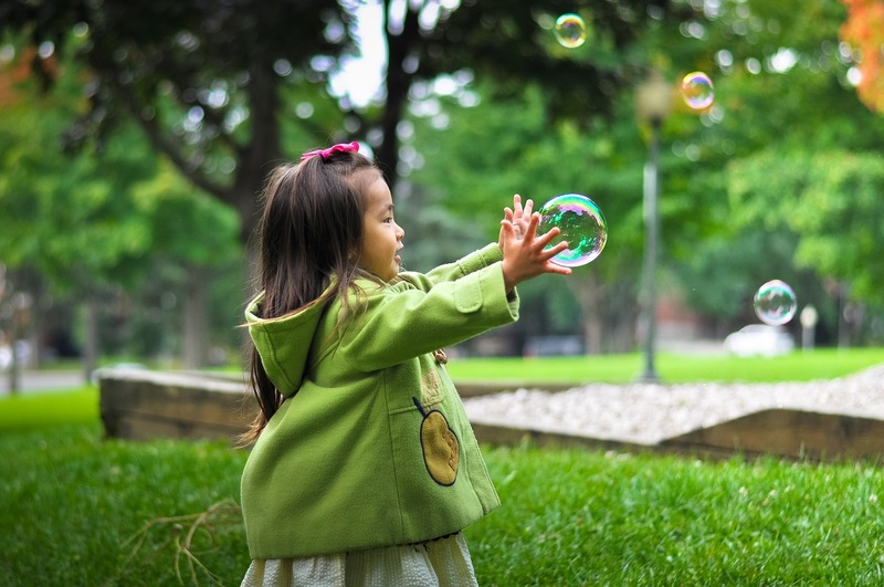 Bubbles  - Chasing the Joy - Lessons From a 3 Year Old