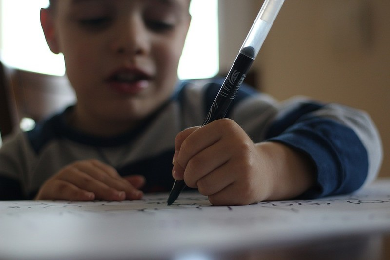 kid writes