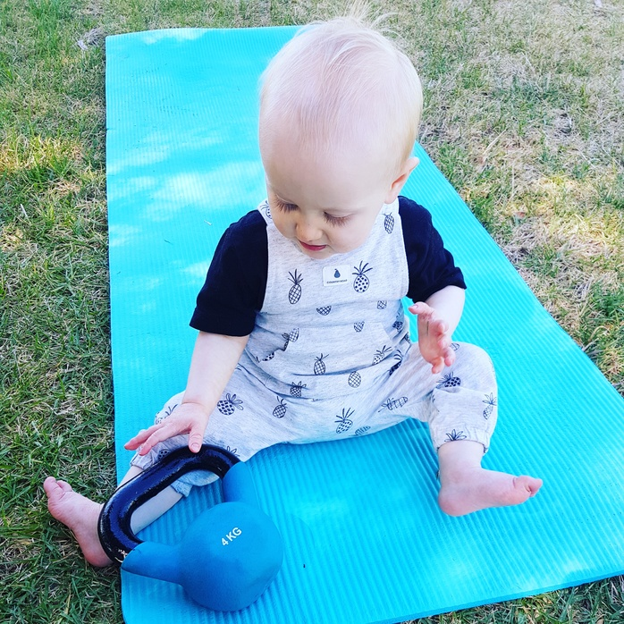 Toddler at mums and bubs exercise class (own image)
